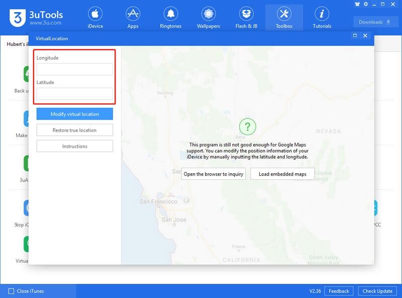 3uTools Virtual Location