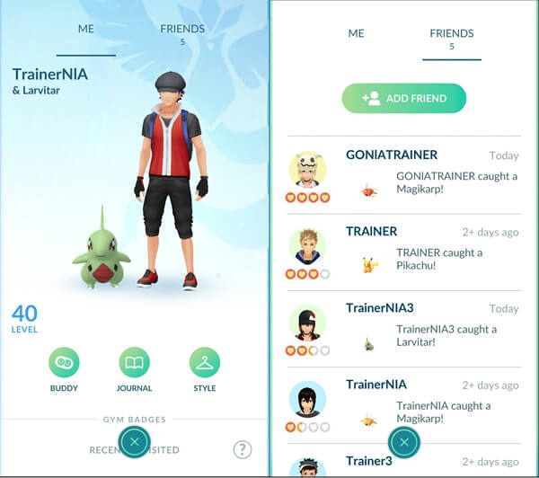 Make Friends in Pokémon Go