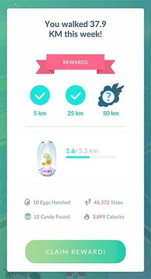 Pokémon Go Adventure Sync Rewards