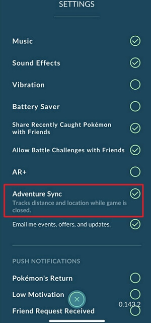 activate Adventure Sync on iOS