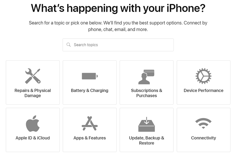contact Apple's customer service