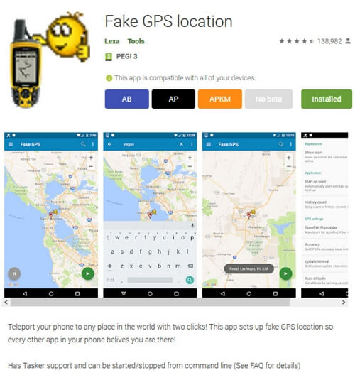 Download a Fake GPS Location Application