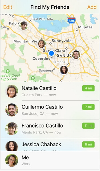 Change Find My Friends Location Using Another iPhone