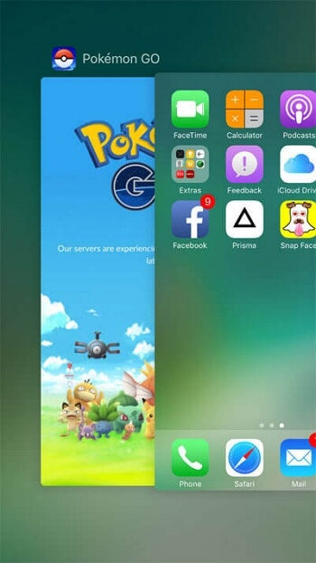 Force Quit Pokémon Go