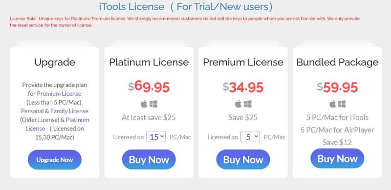 iTools Pricing