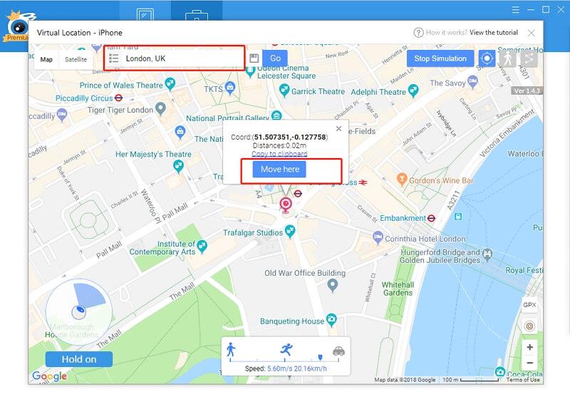 change the location