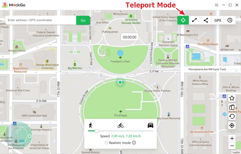 choosethe teleport mode