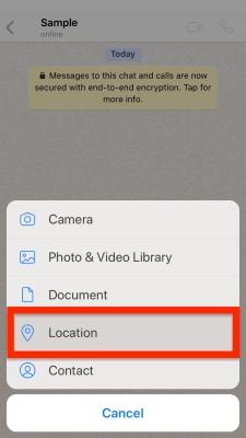 "choose ""Location."""