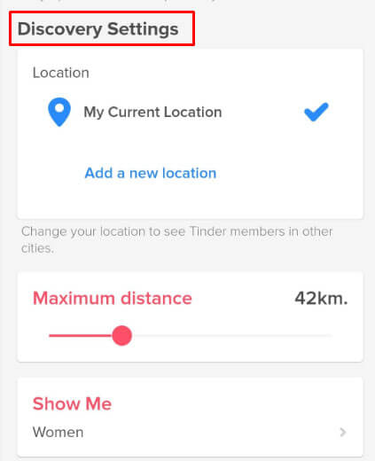 Search Distance