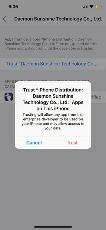 Trust the developer