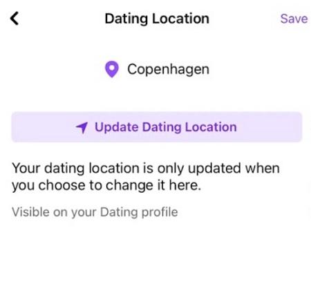 Update Facebook Dating Location